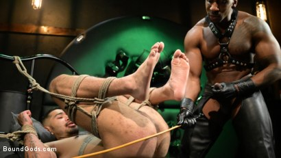 Photo number 11 from Yes, Sir: Jon Darra Submits to Muscle-Stud, Max Konnor shot for Bound Gods on Kink.com. Featuring Max Konnor and Jon Darra in hardcore BDSM & Fetish porn.