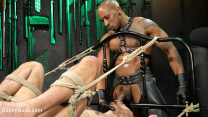 Photo number 13 from Yes, Sir: Jon Darra Submits to Muscle-Stud, Max Konnor shot for Bound Gods on Kink.com. Featuring Max Konnor and Jon Darra in hardcore BDSM & Fetish porn.