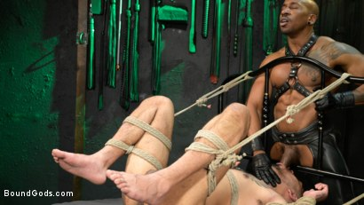 Photo number 14 from Yes, Sir: Jon Darra Submits to Muscle-Stud, Max Konnor shot for Bound Gods on Kink.com. Featuring Max Konnor and Jon Darra in hardcore BDSM & Fetish porn.