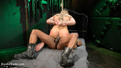 Photo number 20 from Yes, Sir: Jon Darra Submits to Muscle-Stud, Max Konnor shot for Bound Gods on Kink.com. Featuring Max Konnor and Jon Darra in hardcore BDSM & Fetish porn.