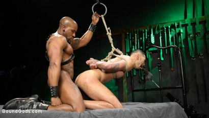 Photo number 22 from Yes, Sir: Jon Darra Submits to Muscle-Stud, Max Konnor shot for Bound Gods on Kink.com. Featuring Max Konnor and Jon Darra in hardcore BDSM & Fetish porn.