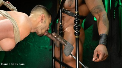 Photo number 23 from Yes, Sir: Jon Darra Submits to Muscle-Stud, Max Konnor shot for Bound Gods on Kink.com. Featuring Max Konnor and Jon Darra in hardcore BDSM & Fetish porn.