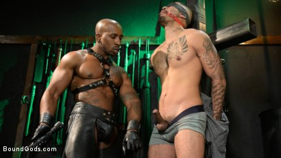 Photo number 4 from Yes, Sir: Jon Darra Submits to Muscle-Stud, Max Konnor shot for Bound Gods on Kink.com. Featuring Max Konnor and Jon Darra in hardcore BDSM & Fetish porn.