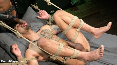 Photo number 8 from Yes, Sir: Jon Darra Submits to Muscle-Stud, Max Konnor shot for Bound Gods on Kink.com. Featuring Max Konnor and Jon Darra in hardcore BDSM & Fetish porn.