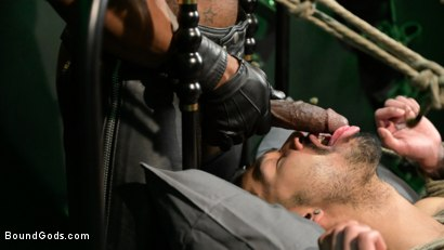 Photo number 9 from Yes, Sir: Jon Darra Submits to Muscle-Stud, Max Konnor shot for Bound Gods on Kink.com. Featuring Max Konnor and Jon Darra in hardcore BDSM & Fetish porn.