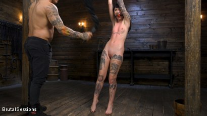 Photo number 3 from Pure Hell: Charlotte Sartre Viciously Used and Anally Fucked shot for Brutal Sessions on Kink.com. Featuring Derrick Pierce and Charlotte Sartre in hardcore BDSM & Fetish porn.
