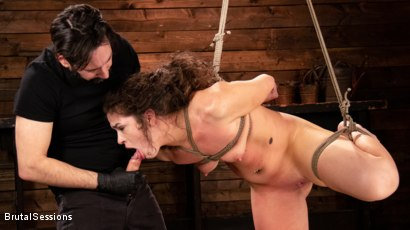 Photo number 1 from Victoria Voxxx: Bound, Beaten, and Thoroughly Fucked by Tommy Pistol  shot for Brutal Sessions on Kink.com. Featuring Tommy Pistol and Victoria Voxxx in hardcore BDSM & Fetish porn.
