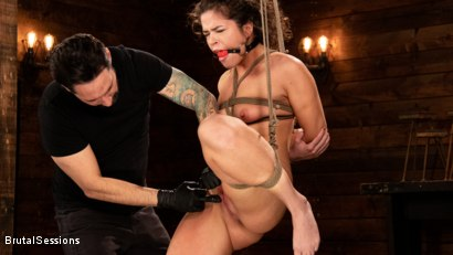 Photo number 2 from Victoria Voxxx: Bound, Beaten, and Thoroughly Fucked by Tommy Pistol  shot for Brutal Sessions on Kink.com. Featuring Tommy Pistol and Victoria Voxxx in hardcore BDSM & Fetish porn.