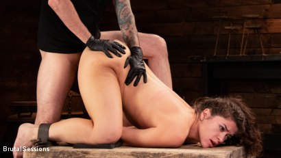 Photo number 12 from Victoria Voxxx: Bound, Beaten, and Thoroughly Fucked by Tommy Pistol  shot for Brutal Sessions on Kink.com. Featuring Tommy Pistol and Victoria Voxxx in hardcore BDSM & Fetish porn.