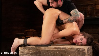 Photo number 20 from Victoria Voxxx: Bound, Beaten, and Thoroughly Fucked by Tommy Pistol  shot for Brutal Sessions on Kink.com. Featuring Tommy Pistol and Victoria Voxxx in hardcore BDSM & Fetish porn.