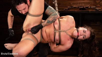 Photo number 3 from Victoria Voxxx: Bound, Beaten, and Thoroughly Fucked by Tommy Pistol  shot for Brutal Sessions on Kink.com. Featuring Tommy Pistol and Victoria Voxxx in hardcore BDSM & Fetish porn.