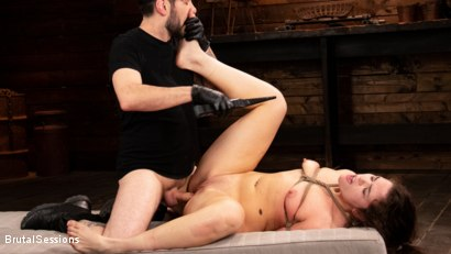 Photo number 26 from Victoria Voxxx: Bound, Beaten, and Thoroughly Fucked by Tommy Pistol  shot for Brutal Sessions on Kink.com. Featuring Tommy Pistol and Victoria Voxxx in hardcore BDSM & Fetish porn.