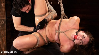 Photo number 8 from Victoria Voxxx: Bound, Beaten, and Thoroughly Fucked by Tommy Pistol  shot for Brutal Sessions on Kink.com. Featuring Tommy Pistol and Victoria Voxxx in hardcore BDSM & Fetish porn.