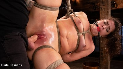 Photo number 9 from Victoria Voxxx: Bound, Beaten, and Thoroughly Fucked by Tommy Pistol  shot for Brutal Sessions on Kink.com. Featuring Tommy Pistol and Victoria Voxxx in hardcore BDSM & Fetish porn.