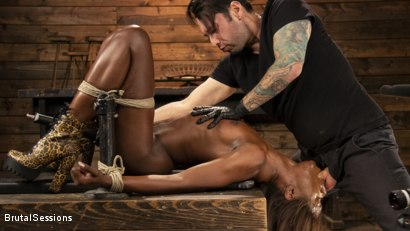 Photo number 2 from Ana Foxxx: Destroyed with Bondage, Electricity, and Brutal Anal shot for Brutal Sessions on Kink.com. Featuring Ana Foxxx and Tommy Pistol in hardcore BDSM & Fetish porn.
