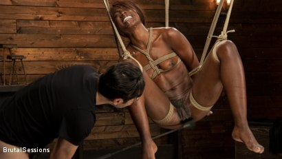 Photo number 7 from Ana Foxxx: Destroyed with Bondage, Electricity, and Brutal Anal shot for Brutal Sessions on Kink.com. Featuring Ana Foxxx and Tommy Pistol in hardcore BDSM & Fetish porn.