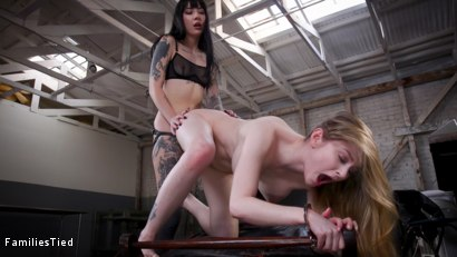 Photo number 9 from FBI Agents Lesbian Step-Sister Blows The Case For Hot Hacker Pussy shot for  on Kink.com. Featuring Seth Gamble, Bunny Colby  and Charlotte Sartre in hardcore BDSM & Fetish porn.