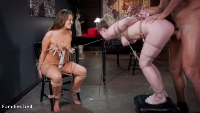 Photo number 26 from Valentine's Day Ruined by Squirting Step-Sister's Anal Con Job shot for  on Kink.com. Featuring Ramon Nomar, Febby Twigs  and Kate Kennedy in hardcore BDSM & Fetish porn.