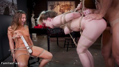 Photo number 28 from Valentine's Day Ruined by Squirting Step-Sister's Anal Con Job shot for  on Kink.com. Featuring Ramon Nomar, Febby Twigs  and Kate Kennedy in hardcore BDSM & Fetish porn.