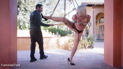 Photo number 2 from Maya's First Date: Curious Stepdaughter Gets More Than Bargained For shot for familiestied on Kink.com. Featuring Tommy Pistol, Helena Locke and Maya Kendrick in hardcore BDSM & Fetish porn.