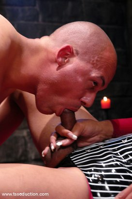 Photo number 6 from Sexy Jade and Steven Garcia shot for TS Seduction on Kink.com. Featuring Sexy Jade and Steven Garcia in hardcore BDSM & Fetish porn.