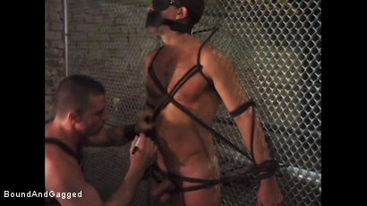 Photo number 12 from Boy On Tap: And for Men Who Take Them shot for Bound And Gagged on Kink.com. Featuring Steve Ross, Aaron Parker and Jason Branch in hardcore BDSM & Fetish porn.