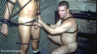 Photo number 18 from Boy On Tap: And for Men Who Take Them shot for Bound And Gagged on Kink.com. Featuring Steve Ross, Aaron Parker and Jason Branch in hardcore BDSM & Fetish porn.