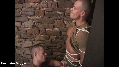 "Photo number 12 from BONDAGE BUDDIES: MILITARY TIES - Scene 1 ""Hello, Fucker"" shot for Bound And Gagged on Kink.com. Featuring Diego Alvarez and Doug Jeffries in hardcore BDSM & Fetish porn."