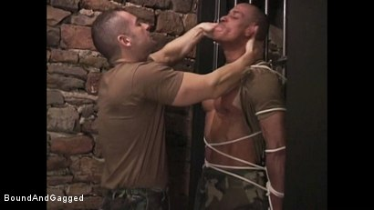 "Photo number 13 from BONDAGE BUDDIES: MILITARY TIES - Scene 1 ""Hello, Fucker"" shot for Bound And Gagged on Kink.com. Featuring Diego Alvarez and Doug Jeffries in hardcore BDSM & Fetish porn."