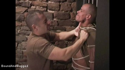 "Photo number 5 from BONDAGE BUDDIES: MILITARY TIES - Scene 1 ""Hello, Fucker"" shot for Bound And Gagged on Kink.com. Featuring Diego Alvarez and Doug Jeffries in hardcore BDSM & Fetish porn."