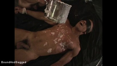 Photo number 7 from BONDAGE BUDDIES: MILITARY TIES: Hot Wax on a Floating Bondage Board shot for Bound And Gagged on Kink.com. Featuring Diego Alvarez and Doug Jeffries in hardcore BDSM & Fetish porn.