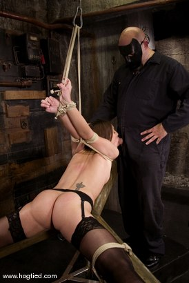 Photo number 6 from Amber is Bound and Face Fucked shot for Hogtied on Kink.com. Featuring Amber Rayne in hardcore BDSM & Fetish porn.