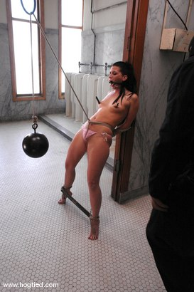 Photo number 2 from If you're the cleaning crew for Kink then you better not miss a spot. shot for Hogtied on Kink.com. Featuring Ariel X in hardcore BDSM & Fetish porn.