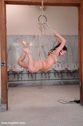 Photo number 4 from If you're the cleaning crew for Kink then you better not miss a spot. shot for Hogtied on Kink.com. Featuring Ariel X in hardcore BDSM & Fetish porn.