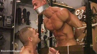 BONDAGE BUDDIES: MILITARY TIES - In the Cock-Stocks