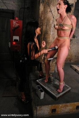 Photo number 6 from Sandra Romain and Ariel X shot for Wired Pussy on Kink.com. Featuring Sandra Romain and Ariel X in hardcore BDSM & Fetish porn.