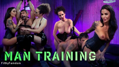 Man Training: Gia Dimarco and Mistress Blunt Dominate Clueless Man