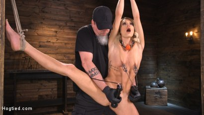 Photo number 4 from Emma Hix: Sexy Slut Suffers Sensually shot for Hogtied on Kink.com. Featuring Emma Hix in hardcore BDSM & Fetish porn.