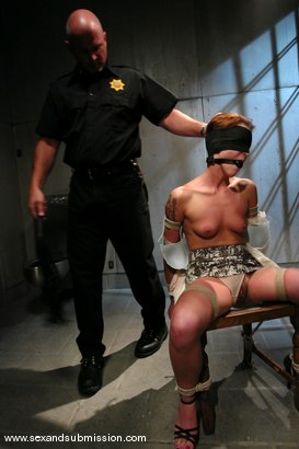 Photo number 4 from Interrogate shot for Sex And Submission on Kink.com. Featuring Mark Davis and Sara Faye in hardcore BDSM & Fetish porn.