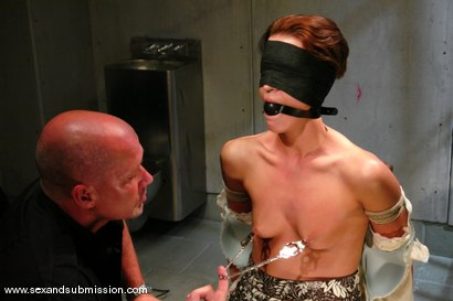 Photo number 5 from Interrogate shot for Sex And Submission on Kink.com. Featuring Mark Davis and Sara Faye in hardcore BDSM & Fetish porn.