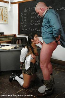 Photo number 8 from Good Little Cock Sucker shot for Sex And Submission on Kink.com. Featuring Mark Davis and Leah Jaye in hardcore BDSM & Fetish porn.