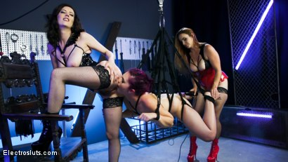 Photo number 23 from The Hookup: Bella Rossi and Cherry Torn Devour Fresh Electroslut Meat! shot for Electro Sluts on Kink.com. Featuring Bella Rossi, Cherry Torn and Koko in hardcore BDSM & Fetish porn.