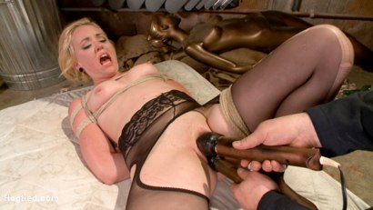 Photo number 24 from The Dark Corner Saloon: Miley May Taken, Tied Up, and Tormented  shot for Hogtied on Kink.com. Featuring Miley May in hardcore BDSM & Fetish porn.