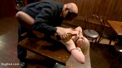 Photo number 6 from The Dark Corner Saloon: Miley May Taken, Tied Up, and Tormented  shot for Hogtied on Kink.com. Featuring Miley May in hardcore BDSM & Fetish porn.