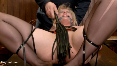 Photo number 10 from The Dark Corner Saloon: Miley May Taken, Tied Up, and Tormented  shot for Hogtied on Kink.com. Featuring Miley May in hardcore BDSM & Fetish porn.