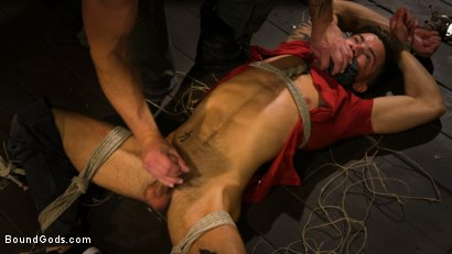 Photo number 5 from Well Hung Fuck Toys: Giant Dicks Dominate Tight Holes shot for Bound Gods on Kink.com. Featuring Colby Jansen, Casey Everett, Devin Trez, Jeremy Spreadums, Ace Rockwood, Seamus O'Reilly, Pierce Paris, Vander Pulaski, Michael DelRay and Nic Sahara in hardcore BDSM & Fetish porn.