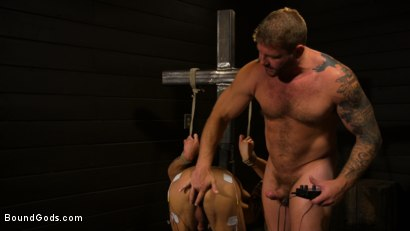 Photo number 6 from Well Hung Fuck Toys: Giant Dicks Dominate Tight Holes shot for Bound Gods on Kink.com. Featuring Colby Jansen, Casey Everett, Devin Trez, Jeremy Spreadums, Ace Rockwood, Seamus O'Reilly, Pierce Paris, Vander Pulaski, Michael DelRay and Nic Sahara in hardcore BDSM & Fetish porn.