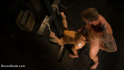Photo number 8 from Well Hung Fuck Toys: Giant Dicks Dominate Tight Holes shot for Bound Gods on Kink.com. Featuring Colby Jansen, Casey Everett, Devin Trez, Jeremy Spreadums, Ace Rockwood, Seamus O'Reilly, Pierce Paris, Vander Pulaski, Michael DelRay and Nic Sahara in hardcore BDSM & Fetish porn.