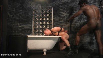 Photo number 12 from Well Hung Fuck Toys: Giant Dicks Dominate Tight Holes shot for Bound Gods on Kink.com. Featuring Colby Jansen, Casey Everett, Devin Trez, Jeremy Spreadums, Ace Rockwood, Seamus O'Reilly, Pierce Paris, Vander Pulaski, Michael DelRay and Nic Sahara in hardcore BDSM & Fetish porn.