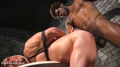 Photo number 15 from Well Hung Fuck Toys: Giant Dicks Dominate Tight Holes shot for Bound Gods on Kink.com. Featuring Colby Jansen, Casey Everett, Devin Trez, Jeremy Spreadums, Ace Rockwood, Seamus O'Reilly, Pierce Paris, Vander Pulaski, Michael DelRay and Nic Sahara in hardcore BDSM & Fetish porn.